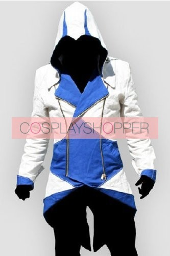 Blue Assassin's Creed III Conner Kenway Casual Cosplay Jacket