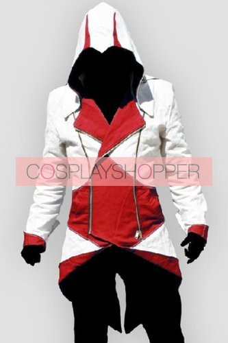 Red Assassin's Creed III Conner Kenway Casual Cosplay Jacket