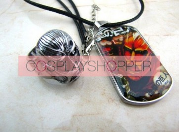 Attack On Titan Colossus Titan Cosplay Necklace And Ring Set