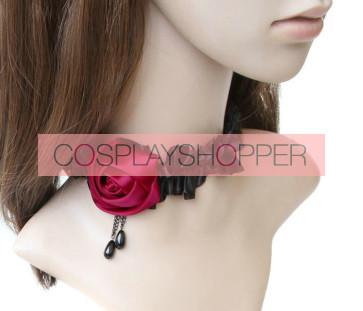 Attractive Rose Floral Lolita Necklace