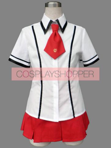 Baka to Test to Shoukanjuu Girl Summer School Uniform Cosplay Costume