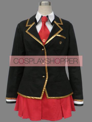 Baka to Test to Shoukanjuu Girl Winter School Uniform Cosplay Costume