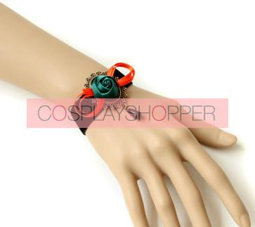 Beautiful Rose Bead Office Girls Lolita Wrist Strap