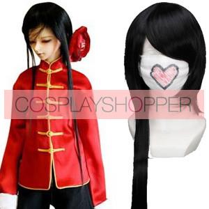 Black 100cm Axis Powers Hetalia China Wang Yao Cosplay Wig