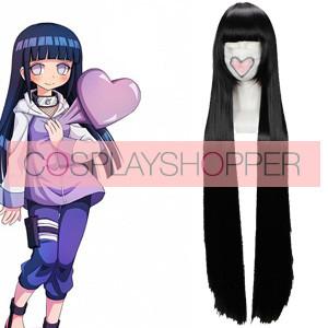 Black 110cm Naruto Hyuuga Hinata Cosplay Wig