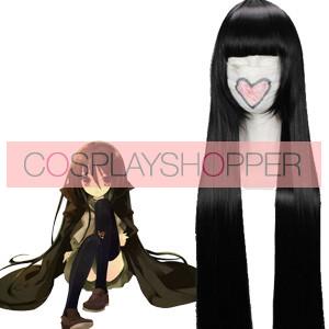 Black 110cm Shakugan no Shana Shana Cosplay Wig