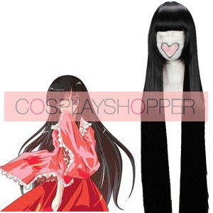 Black 110cm Tonhou Project Houraisan Kaguya Cosplay Wig