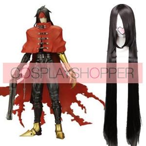 Black 120cm Final Fantasy Vincent Valentine Cosplay Wig