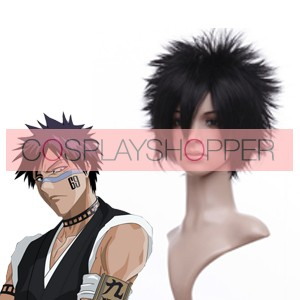 Black 30cm Bleach Hisagi Shuhei Nylon Cosplay Wig