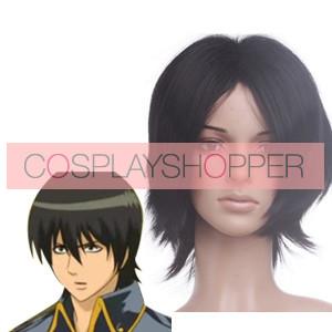 Black 32cm Gintama Yamazaki Sagaru Cosplay Wig
