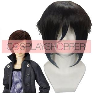 Black 32cm Hakuouki Hijikata Toshizo Cosplay Wig