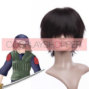 Black 32cm Naruto Gekkou Hayate Cosplay Wig