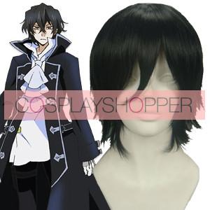 Black 32cm Pandora Hearts Gilbert Nightray Cosplay Wig