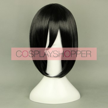 Black 35cm Attack On Titan Mikasa Ackerman Cosplay Wig