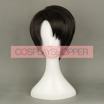 Black 35cm Attack On Titan Levi Ackerman (Rivaille) Cosplay Wig