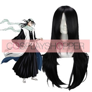 Black 65cm Bleach Kuchiki Byakuya Cosplay Wig
