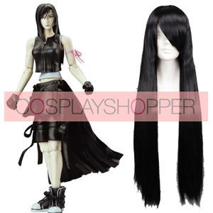 Black 80cm Final Fantasy Tifa Lockhart Cosplay Wig