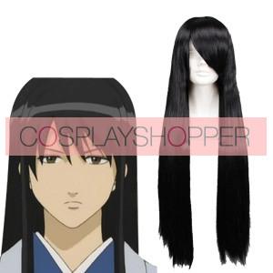 Black 80cm Gintama Katsura Kotarou Cosplay Wig