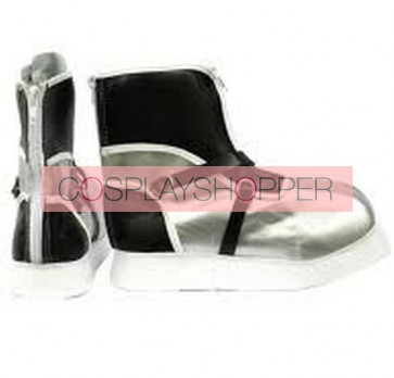 Black and Gray Kingdom Hearts II Sora Imitation Leather Cosplay Shoes