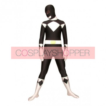 Black And White Universal Soldier Lycra Spandex Superhero Zentai Suit