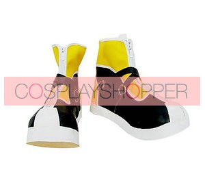 Black and Yellow Kingdom Hearts II Sora Imitation Leather Cosplay Shoes