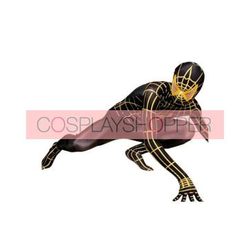 Black And Yellow Lycra Spandex Spiderman Zentai Suit