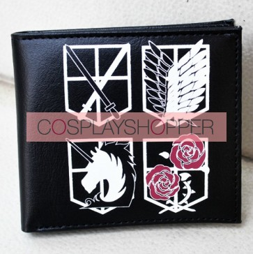 Black Attack On Titan Cosplay Wallet