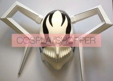 Black Bleach Ichigo Vizored PVC Cosplay Mask