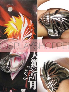 Black Bleach Urosaki Ichigo Hollows Alloy Cosplay Ring