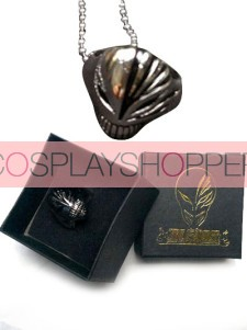Black Bleach Urosaki Ichigo Hollows Alloy Cosplay Ring Necklace With Box