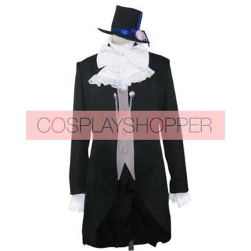 Kuroshitsuji Black Butler Ciel Phantomhive Black Cosplay Suit
