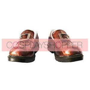 Black Butler Kuroshitsuji Ciel Smooth Surface Flat Cosplay Shoes