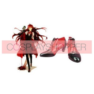 Black Butler Kuroshitsuji Grell Sutcliff Imitation Leather Cosplay Shoes
