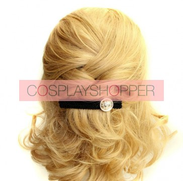 Black Concise Handmade Girls Lolita Hairpin