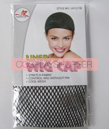 Black Cotton Hairnet For Cosplay Wig