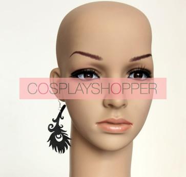 Black Feather Lady Handmade Lolita Earrings