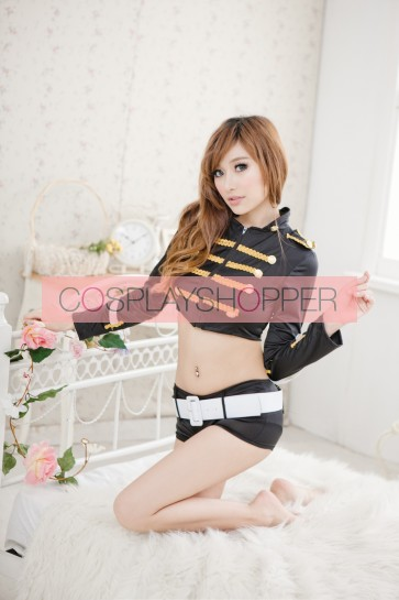 Black Hot Two-piece Police Officer Costume