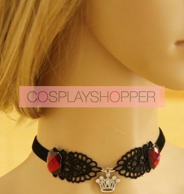 Black Lace Blend Alloy Lolita Necklace
