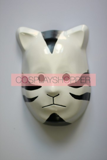 Black Naruto Anbu Cat PVC Cosplay Mask