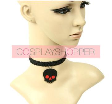 Black Punk Skeleton Lolita Neckband
