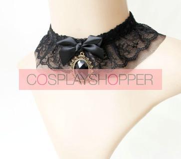 Black Retro Lack Lolita Necklace