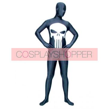 Black Skeleton Lycra Spandex Zentai Suit
