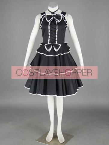 Black Sleeveless Cotton Gothic Lolita Dress