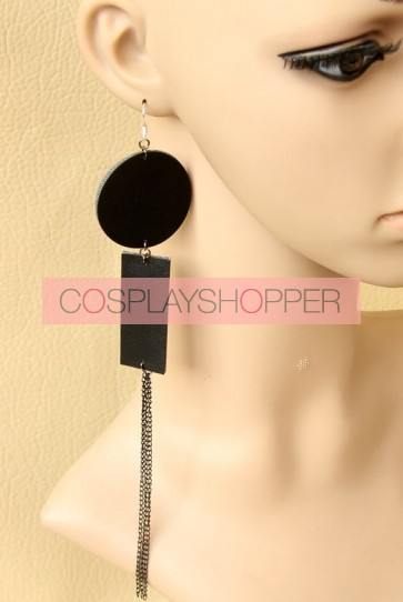 Black Special Lady Handmade Lolita Earrings