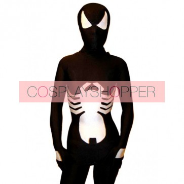 Black Spider Full Body Lycra Spandex Unisex Zentai Suit