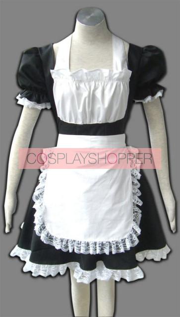 Black Winged Angle Cosplay Maid Costume