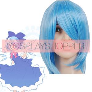 Blue 35cm Tonhou Project Cirno Nylon Cosplay Wig