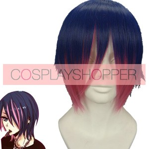 Blue and Red 32cm Panty & Stocking With Garterbelt Anarchy Stocking Cosplay Wig