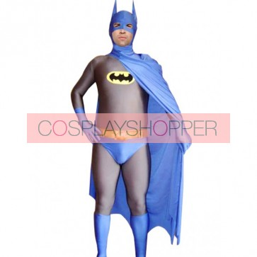 Blue Batman Lycra Spandex Superhero Zentai Suit