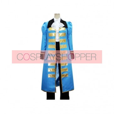 Axis Powers Hetalia Blue France Cosplay Costume
